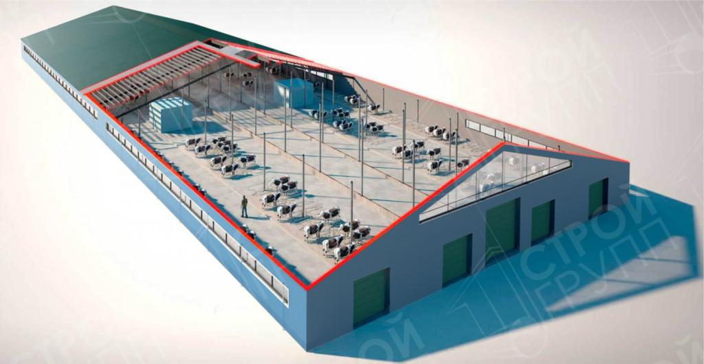 Животноводческая ферма с роботизированным доением на 500 голов КРС, Брянская область