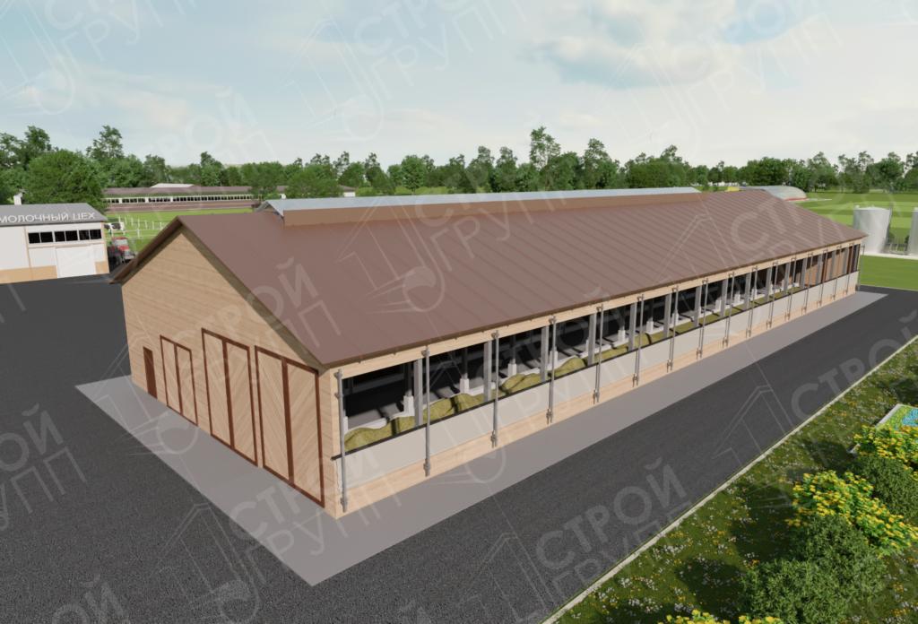Строительство животноводческой фермы на 260 голов, Калужская область