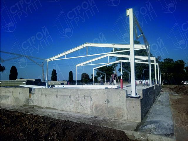 Модульное быстровозводимое здание, размером 12х24 м, под молочный цех г. Усть-Лабинск, Краснодарский край